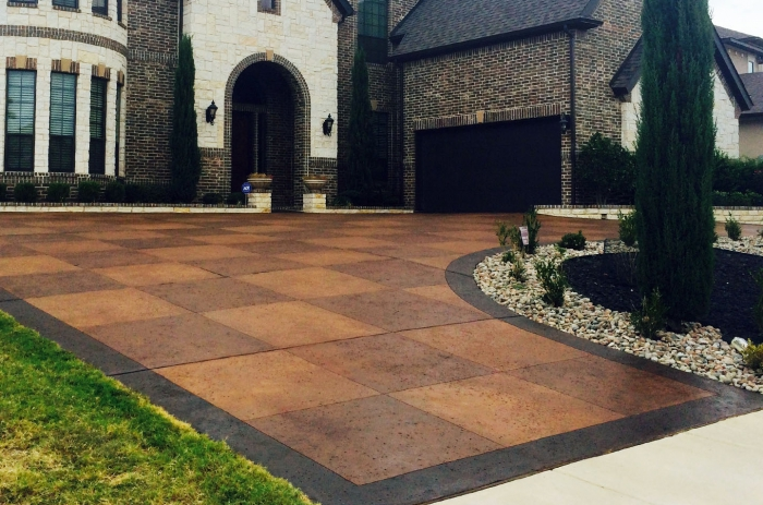 Concrete Driveway Repair, Resurfacing And Decoration