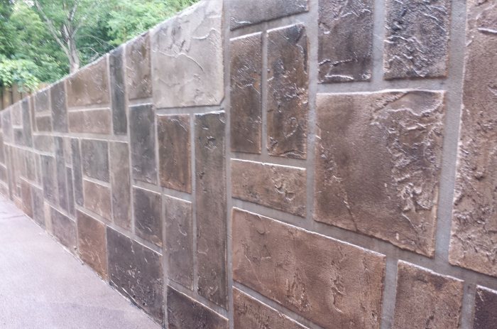 Concrete Wall Coatings And Vertical Stamped Concrete
